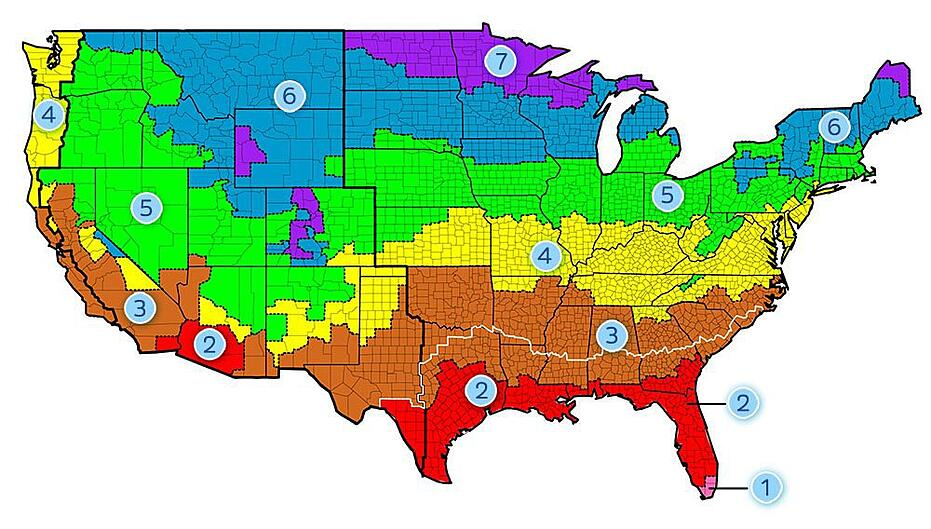 U.S. Climate Zone Map