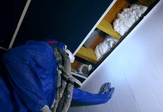 rim joist spray foam insulation