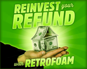 Invest tax return into home