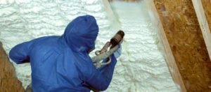 Spray Foam insulation Seals Attic