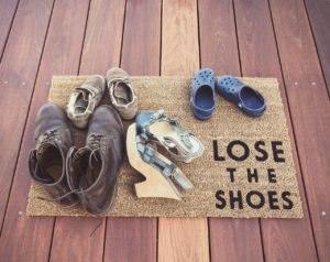 Leave shoes outside