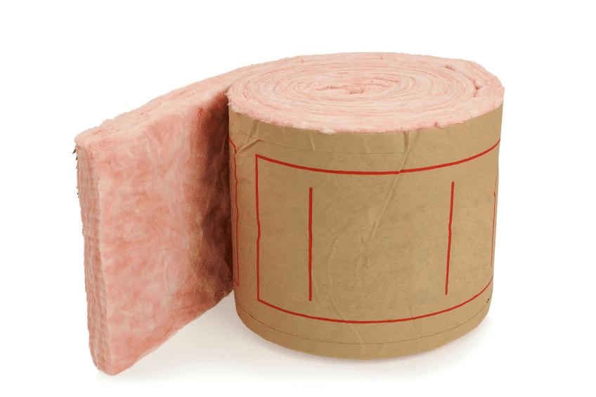 Rim joist fiberglass insulation