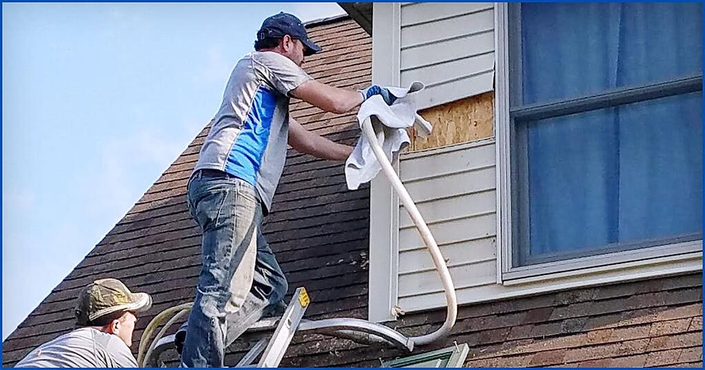 Injecting RetroFoam into an existing home