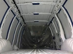 how to prep a cargo van for spray foam insulation