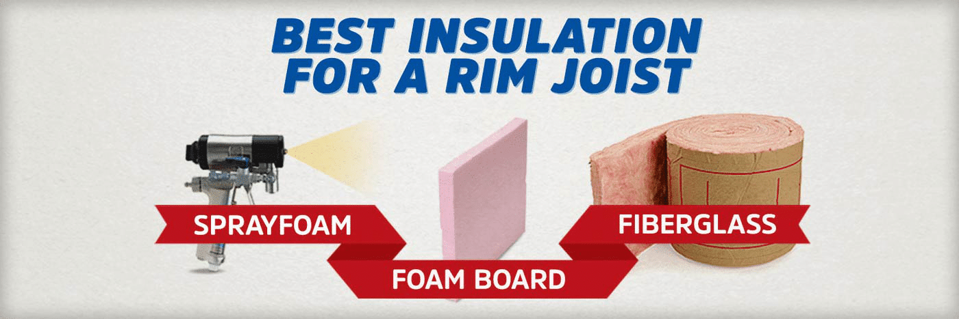 What is the Best Rim Joist Insulation? (Spray Foam vs Fiberglass vs Foam Board)