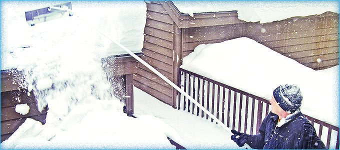 How a Snow Rake Can Save Your Roof