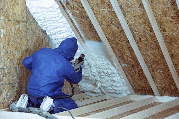 Spray-foam-in-attic